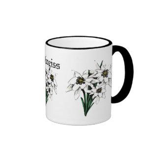 Flores de Edelweiss Tazas