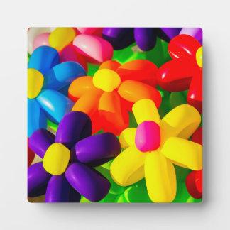 Flores de globo del juguete placa expositora