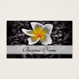 Flores de Hawaii del Frangipani del Plumeria Tarjeta De Visita