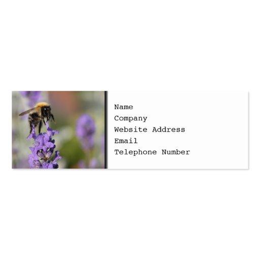 Flores de la abeja y de la lavanda tarjetas personales