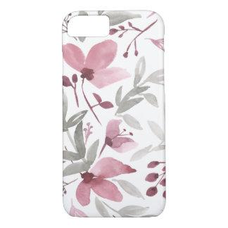 Flores de la acuarela - caso floral rústico del funda para iPhone 8/7