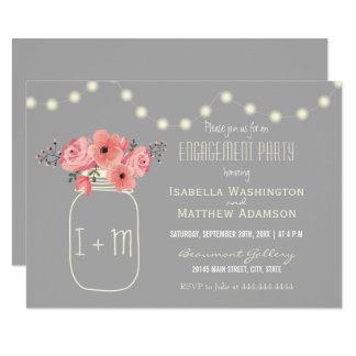Flores de la acuarela del fiesta de compromiso el invitación 8,9 x 12,7 cm