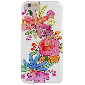 Flores de la acuarela en el caso del iPhone Funda Barely There iPhone 6 Plus