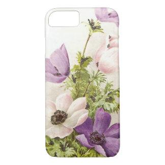 Flores de la anémona del vintage funda iPhone 7