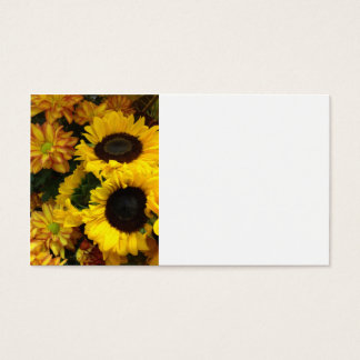 Flores de la caída del girasol tarjeta de visita