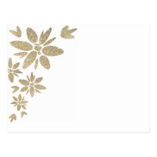 Flores de la chispa del oro del producto del postal