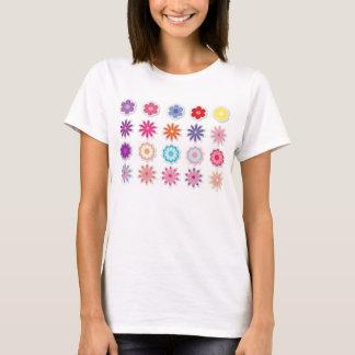 Flores de la fantasía camiseta