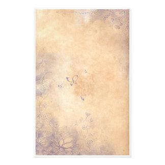 Flores de la fantasía - púrpura papelería personalizada