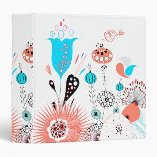 Flores de la fantasía y carpeta del chirrido carpeta 3,8 cm