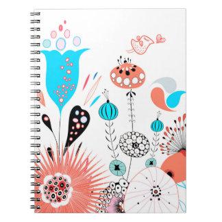 Flores de la fantasía y cuaderno del chirrido
