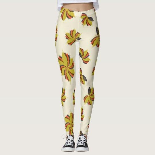 Flores de la gota de rocío leggings