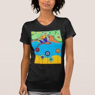 Flores de la libélula y del Lollipop Camiseta