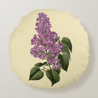 Flores de la lila cojín redondo