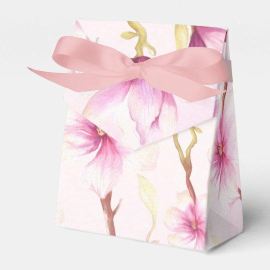 Flores de la magnolia caja para regalos