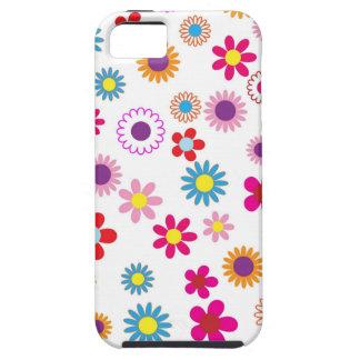 Flores de la margarita del vintage del Hippie. Funda Para iPhone SE/5/5s