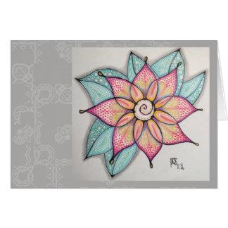 Flores de la meditación, interior en blanco tarjeta de felicitación