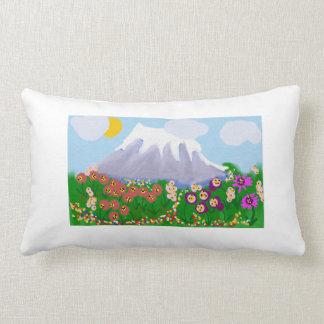 Flores de la montaña almohada
