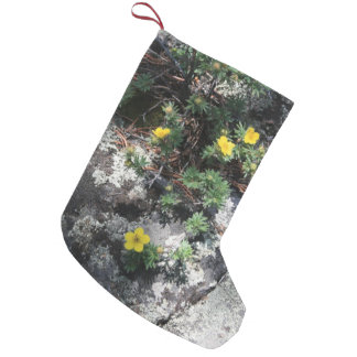 Flores de la montaña calcetín de navidad pequeño