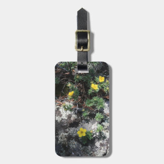 Flores de la montaña etiquetas para maletas