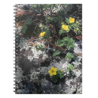 Flores de la montaña libreta