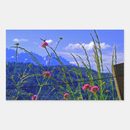 Flores de la montaña rectangular altavoz