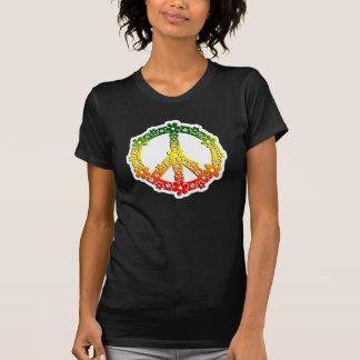 Flores de la paz del reggae de Rasta Camisetas