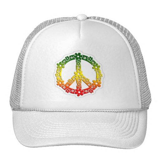 flores de la paz del reggae del rasta gorras de camionero