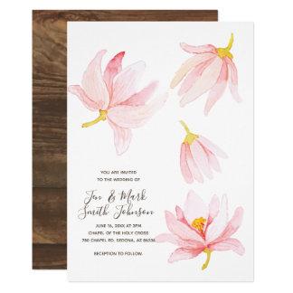 Flores de la primavera de la acuarela. Invitación