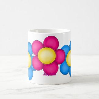 Flores de la primavera taza de café