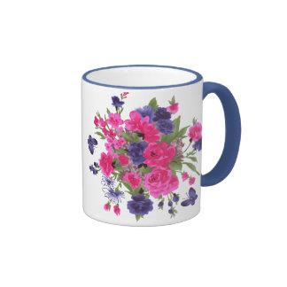Flores de la primavera Taza del regalo del día de