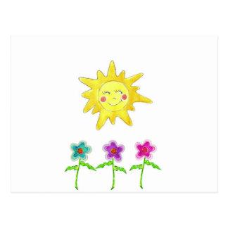 Flores de la sol postal