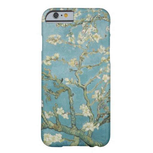 Flores de los árboles del parque de las ramas de funda de iPhone 6 barely there