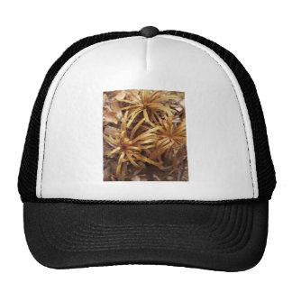 flores de madera talladas gorras de camionero