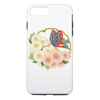 Flores de mariposa funda iPhone 7 plus