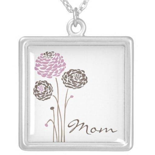 Flores de moda de la mamá del collar del día de ma