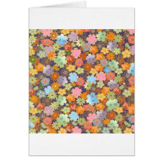 Flores de Origami Tarjeta De Felicitación