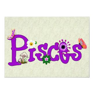 Flores de Piscis Invitación 12,7 X 17,8 Cm