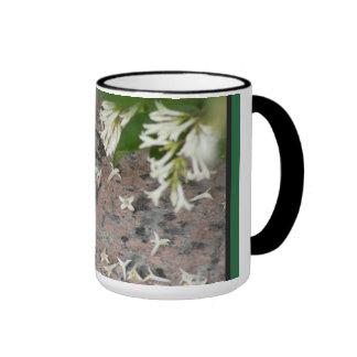 Flores de Privet en el granito Taza A Dos Colores