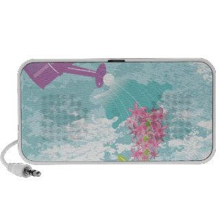 flores de riego iPod altavoz
