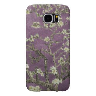 Flores de Vincent van Gogh-Púrpura Almond Funda Samsung Galaxy S6