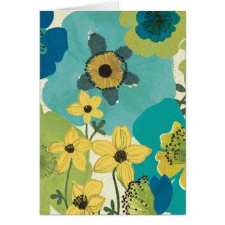 Flores decorativas del jardín tarjeta de felicitación