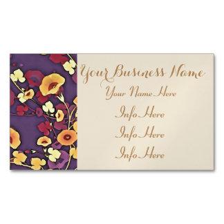 Flores decorativas en Multi-Colores Tarjetas De Visita Magnéticas