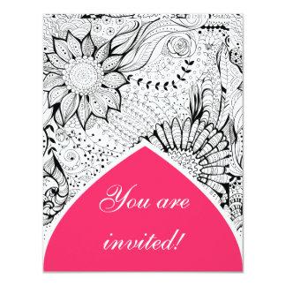 Flores decorativas invitación 10,8 x 13,9 cm