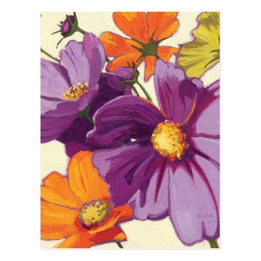 Flores decorativas tarjetas postales