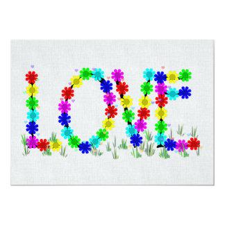 Flores del amor del Hippie Comunicados Personalizados