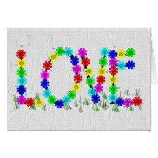 Flores del amor del Hippie Tarjeta De Felicitación