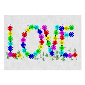 Flores del amor del Hippie Tarjetas De Visita Grandes