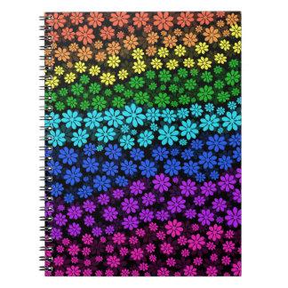 Flores del arco iris cuaderno