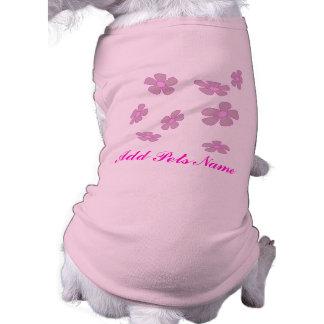 flores del bonito del personalizar camiseta sin mangas para perro