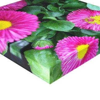 Flores del botón impresiones en lona